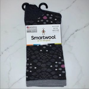SmartWool Grey Spotted 'Pompeii Pebble Crew' Socks